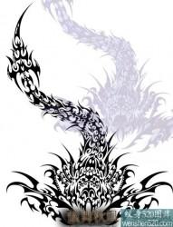 蝎子图腾纹身手稿