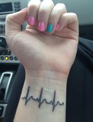 心电图纹身_心电图纹身图案大全_心电图纹身图片_纹身
