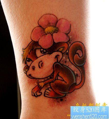 脚部个性可爱米老鼠纹身图片