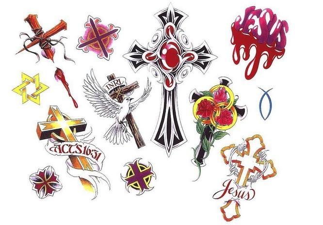 好看的十字架纹身素材_十字架纹身_手稿纹身_85814图库