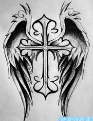 十字架纹身图片