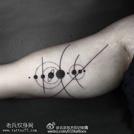 星系纹身图片