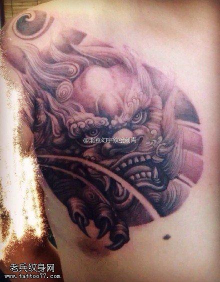 石狮子纹身图片图片