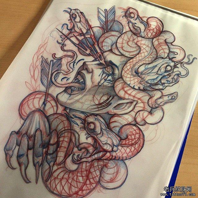 美杜莎纹身图片