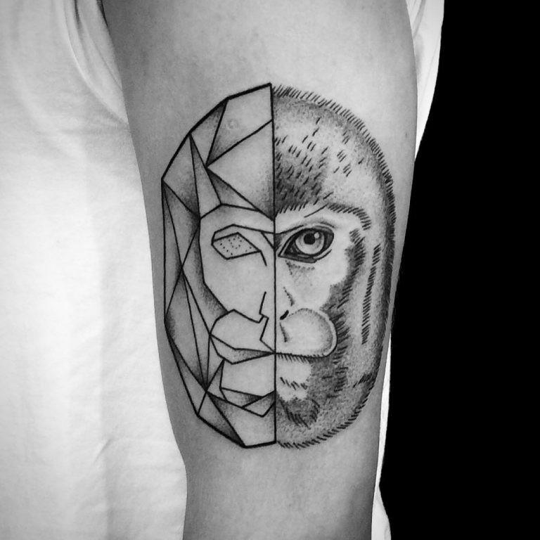 猴子纹身_猴子纹身图案大全_猴子纹身手稿_猴子纹身