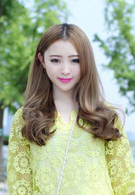 甜美韩国中长发发型图片女5P]