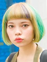 日本街拍原宿风染发图片大全[11P]