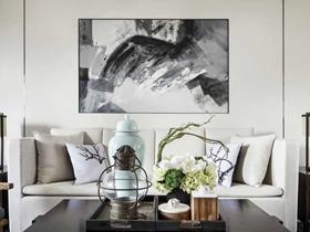 新中式二居室家装设计效果图