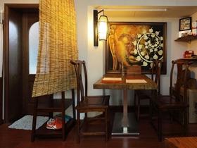 复古中式一居室设计效果图