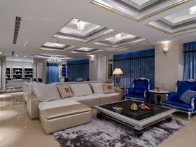 简欧风格浪漫白色客厅吊顶设计装潢