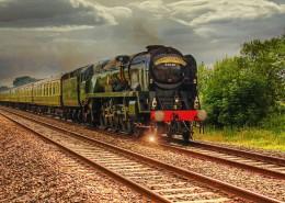 傳統的有軌火車圖片_16張