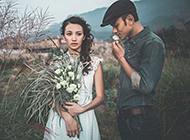 时尚复古欧美风格婚纱写真图片