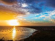 海边的夕阳景色图片欣赏