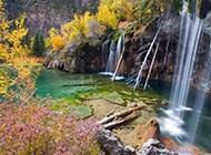 唯美山水瀑布高清图片