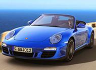 飞速前进的保时捷911跑车图片