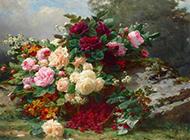 美丽的牡丹花油画图片