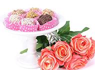 巧克力与玫瑰花艺术图片素材