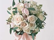 婚禮白玫瑰花束圖片素材