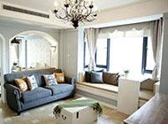 地中海风格家庭客厅装修效果图