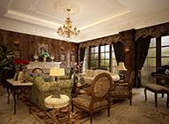 别墅华丽欧式客厅设计效果图