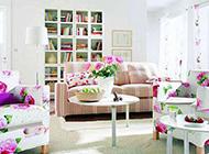 书房简约花色风格设计效果图