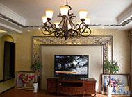 奢华典雅的欧式电视背景墙图片