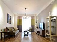 质感美式客厅简约吊顶设计效果图