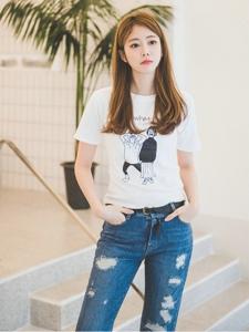 清纯白皙嫩模阳光时尚俏皮可爱