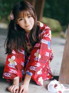 日系少女粉嫩甜美和服写真清纯动人