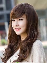 韩式中长梨花头 清纯甜美棕黑发型