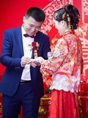 幸福而感動的婚禮