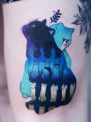 11款可爱的猫纹身纹身图案
