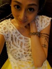 女生手臂手链纹身图案