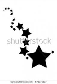 黑色素描文藝小清新精美星星紋身手稿