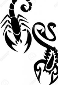 黑色素描创意霸气有趣霸气蝎子纹身手稿
