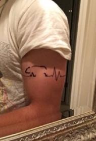 心電圖紋身 男生手臂上心電圖紋身圖片
