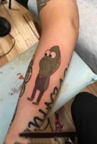 卡通可爱纹身图案 女生手臂上彩色的卡通鱼纹身图片