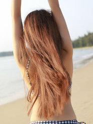 三亚旅拍 猩一性感美女三点式泳装夏日写真