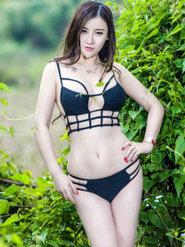 高颜值女神D罩杯王婉悠丛林写真释放出属于她的野性与霸气