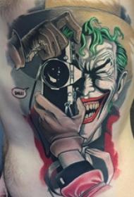 小丑纹身 多款彩绘纹身素描小丑纹身图案