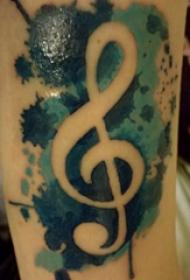 音符纹身 男生手臂上音符纹身图片