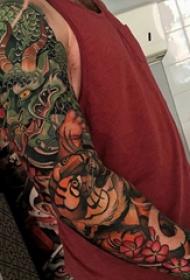 彩绘纹身 多款素描纹身彩绘经典纹身图案