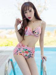 户外美女Eva刘蓝蔻比基尼写真 好看的图片唯美小清新可爱