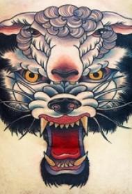 百樂動物紋身  女生腹部上彩繪的百樂動物紋身圖片