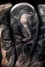 异形归来科幻世界里的纹身