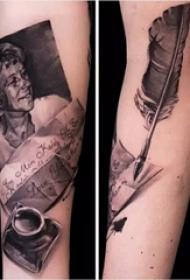 余文乐的纹身  平安彩票导航网手臂上人物和信纹身图片