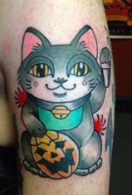 小猫咪纹身  多款彩绘可爱小猫咪纹身图案