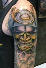 武士纹身  多款个性的日本武士纹身图案