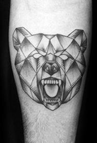 熊纹身   多款时尚的几何熊纹身图案