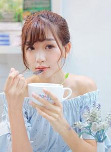 邂逅平安彩票app陈潇下午茶清纯写真